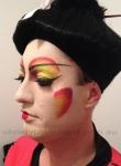 Geisha inspired drag makeup November 2013